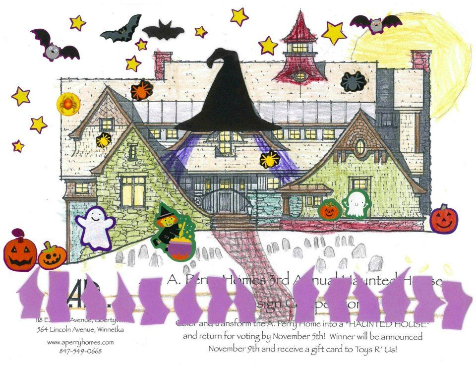 Local architects host halloween design contest where kids decorate a renderings of new designer homes
