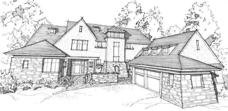 Design process for House sketches from photos